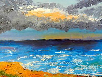 Wollongong Beach Art Print by Pamela  Meredith