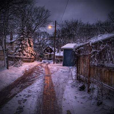 Winnipeg Photograph - Wolseley Winter by Bryan Scott
