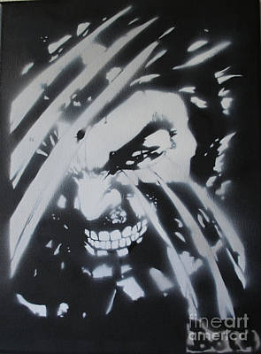 Badass Painting - Wolverine  by Barry Boom