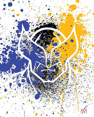 Wolverine Goes Splat Art Print by Decorative Arts