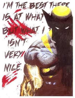 Xmen Painting - Wolverine by Inkd Custom