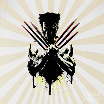 Human Being Digital Art - Wolverine by Mark Ashkenazi