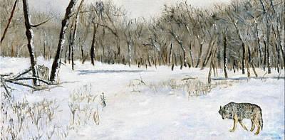 Wolves Of The Frozen World Art Print