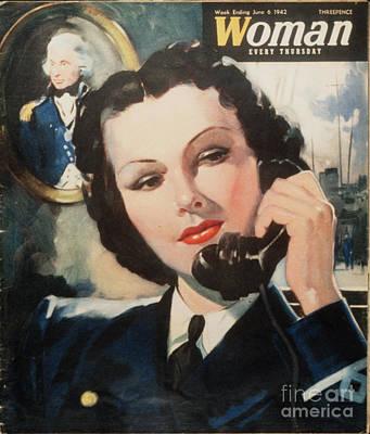 Woman 1940s Uk Navy Women At War  Ww2 Art Print