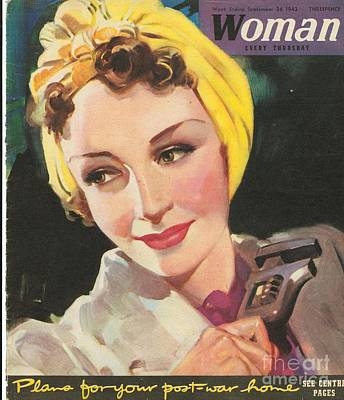 Woman 1940s Uk Women At War Mechanics Art Print