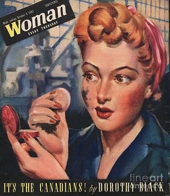 Woman 1943 1940s Uk Women At War Art Print