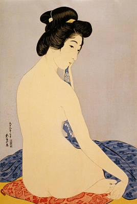 Zen Digital Art - Woman After Bath by Georgia Fowler