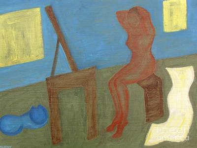 Woman After Bathing Print by Patrick J Murphy