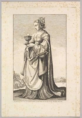 Czech Republic Drawing - Woman by After Wenceslaus Hollar