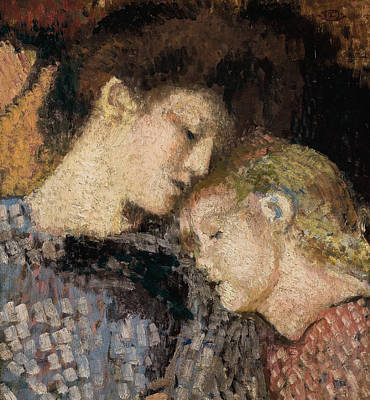 Chin Painting - Woman And Child by Georges Lemmen