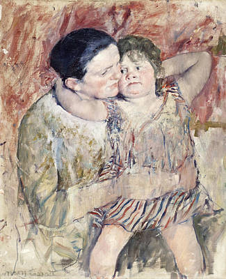 Self-portrait Painting - Woman And Child by Celestial Images