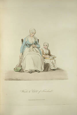 Friesland Photograph - Woman And Child Of Friesland by British Library
