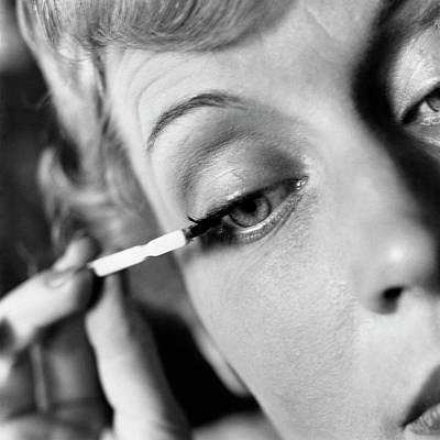 Mascara Photograph - Woman Applying Mascara by Frances McLaughlin-Gill