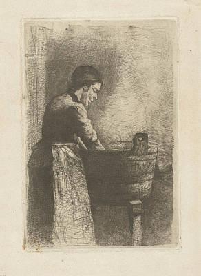 Woman At A Washtub, Gerard Jan Bos Art Print by Quint Lox