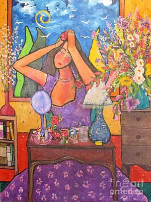 Painting - Woman At Dressing Table by Chaline Ouellet