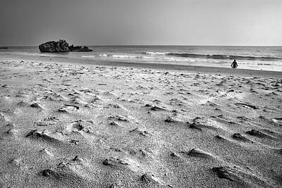 Balck And White Photograph - Woman At The Beach by Guido Montanes Castillo