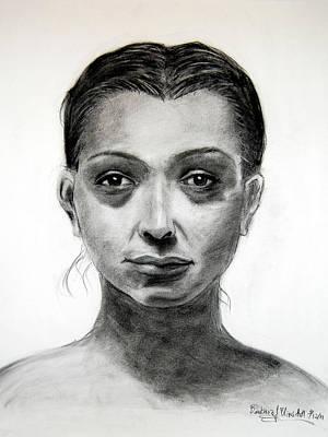 Drawing - Woman by Barbara J Blaisdell