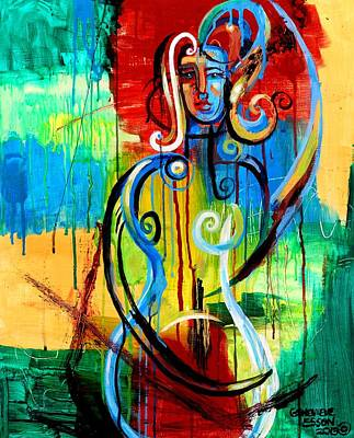 Woman Bass Art Print by Genevieve Esson