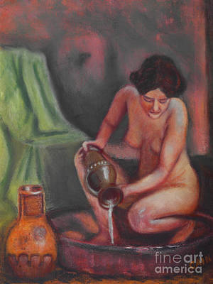 Painting - Woman Bathing Art Print by William Cain