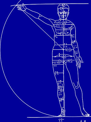Woman Blueprint Art Print by