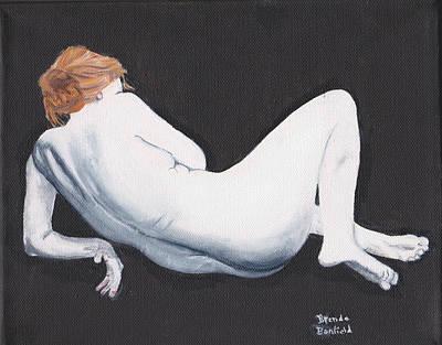 Woman Art Print by Brenda Bonfield