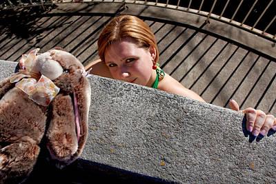 Look Photograph - Woman Bunny Bars 2011 by James Warren