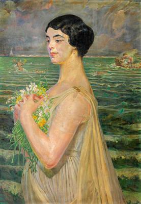 Jacek Malczewski Painting - Woman By The Sea by Jacek Malczewski