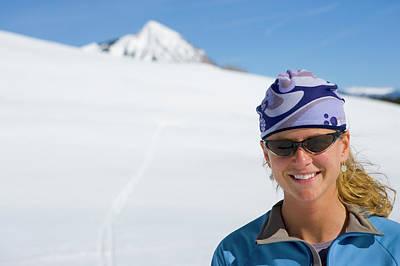 Woman Cross Country Skiing, Colorado Art Print