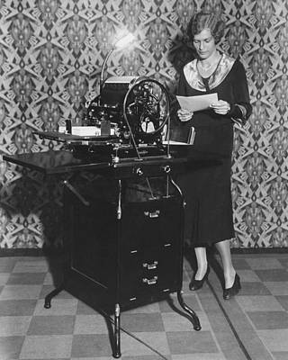 Duplicate Photograph - Woman Demonstrates Duplicator by Underwood Archives