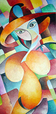 Art Print featuring the painting Woman by Dorothy Maier