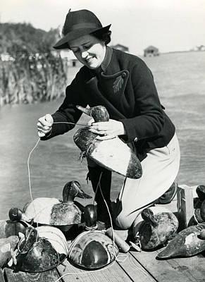 Woman Duck Hunter Art Print