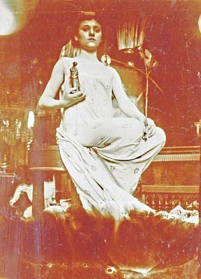 Mucha Drawing - Woman Figurine, Alfons Maria Mucha, Alphonse Mucha by Artokoloro