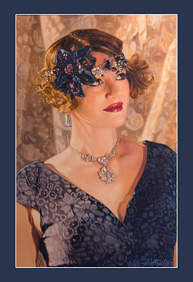 Patrick Painting - Woman From Another Time by Patrick Whelan