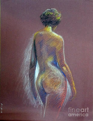 Drawing - Woman From Back by Barbara Oertli