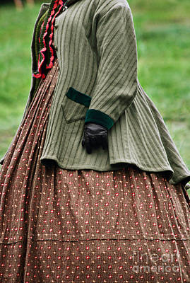 Knitted Dress Photograph - Woman From The Nineteenth Century by Stephanie Frey