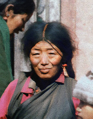 Woman From Tibet Art Print by Kurt Van Wagner
