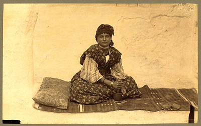 Berber Woman Photograph - Woman, Full-length Portrait, Seated On Rug On Ground by Litz Collection