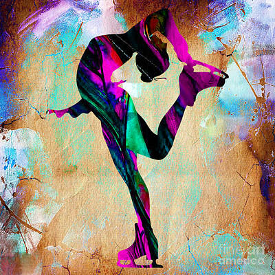 Mixed Media - Woman Ice Skater by Marvin Blaine