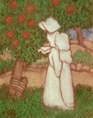 Woman In A White Dress, 1896 Pastel On Paper Art Print by Jozsef Rippl-Ronai