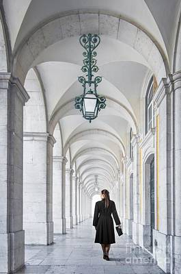 Vip Entrance Photograph - Woman In Archway  by Carlos Caetano