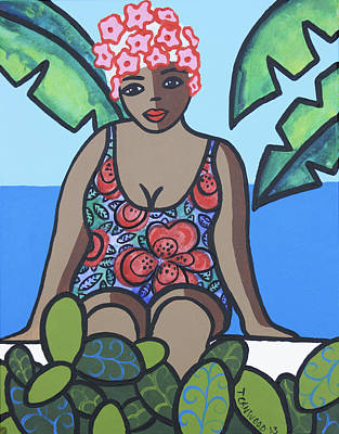 Saba Painting - Woman In Bathing Suit 4 by Trudie Canwood