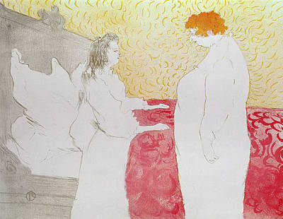 Drawing - Woman In Bed by Henri de Toulouse-Lautrec