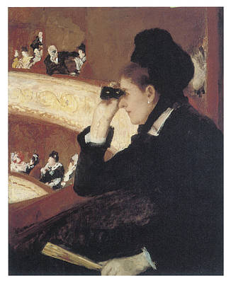 Woman In Black At The Opera Art Print by Mary Cassatt