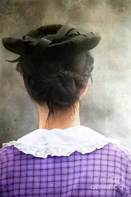 Woman In Black Hat Print by Stephanie Frey