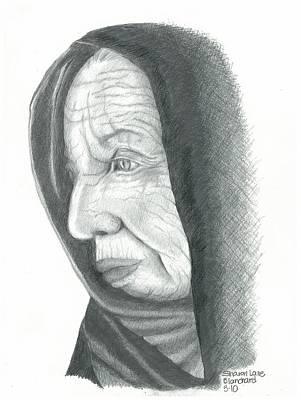 Black Widow Drawing - Woman In Black by Sharon Blanchard