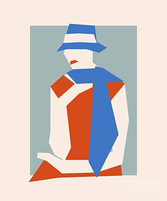 Woman In Blue Hat Art Print by Igor Kislev