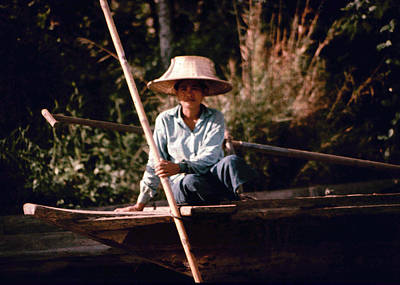 Photograph - Woman In Boat by John Warren