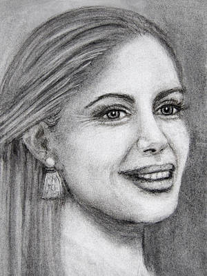 Drawing - Woman In Charcoal  by Barbara J Blaisdell
