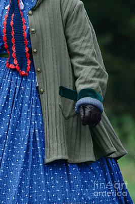 Knitted Dress Photograph - Woman In Civil War Period Clothing by Stephanie Frey