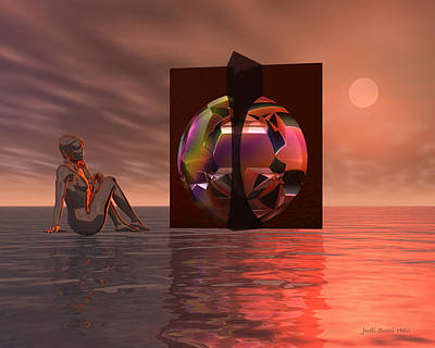 Digital Art - Woman In Contemplation Nude by Judi Suni Hall